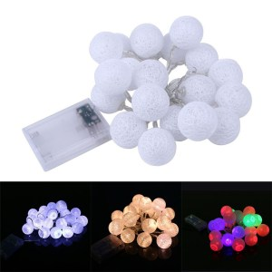 2.3m 20 LED Ball Lighting String Garland Fairy Lamp Wedding/Birthday/Valentine's Day Party Girl Bedroom Lights Decorations Gift
