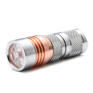 Astrolux S41S Stainless Steel 4x Nichia 219C/XP-G3/G2 A6 1600LM Mini LED Flashlight
