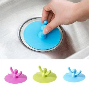 1pc Silicone Bathtub Floor Drain for Kitchen Bathroom Accessories Hair Stopper Portable Kitchen Sink Stopper Drain Plug