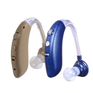 Rechargeable Digital Hearing Aid Voice Adjustable BTE Sound Voice Amplifier Behind Ear Sound