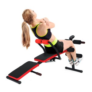 Adjustable Folding Sit Up Bench Abdominal Muscle Exercise Machine Dumbbell Stool Bodybuilding Trainer Fitness Equipment