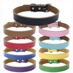 Lovely Pet Dog Buckle Faux Leather Collar Neck Strap Dog Collar