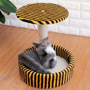 Detachable Cat Climbing Frame Sisal Material Cat Scratching Post Board Small Cat Jumping Platform Pet Bed