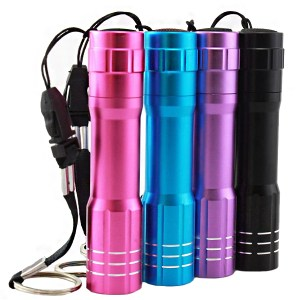 3W 1 Modes Flashlight Waterproof AA Battery LED Purple Light Outdoor Camping Hunting LED Lamp