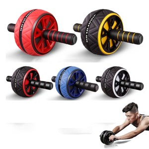 Ab Roller Big Wheel Abdominal Muscle Trainer for Body Shaping Abs Core Workout Home Gym Fitness Training Equipment