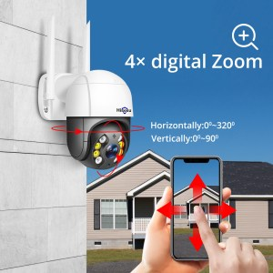Hiseeu 1080P Speed Dome WIFI Camera 2MP Outdoor Wireless PTZ IP Camera Cloud-SD Slot ONVIF 2-Way Audio Network CCTV Surveillance