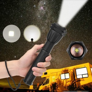 XANES 1293 Zoomable USB Rechargeable LED Flashlight XHP50 Highlight Telescopic 18650 2660 Torch