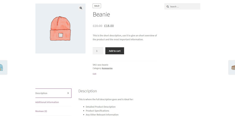 WooCommerce Product Page