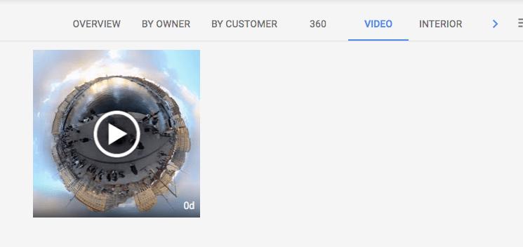 google my business video