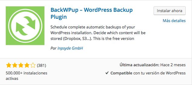plugin backwpup 1