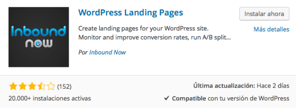 plugin wordpress landing pages