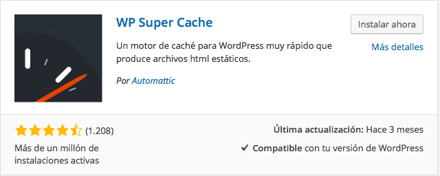 plugin wp super cache 1