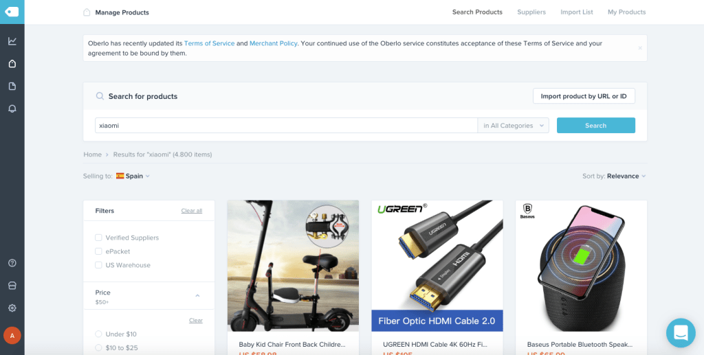 Oberlo, Shopify's commitment to create a dropshipping shop