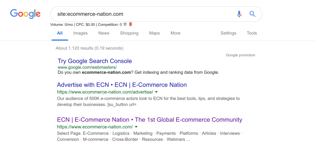 site google ecommerce nation