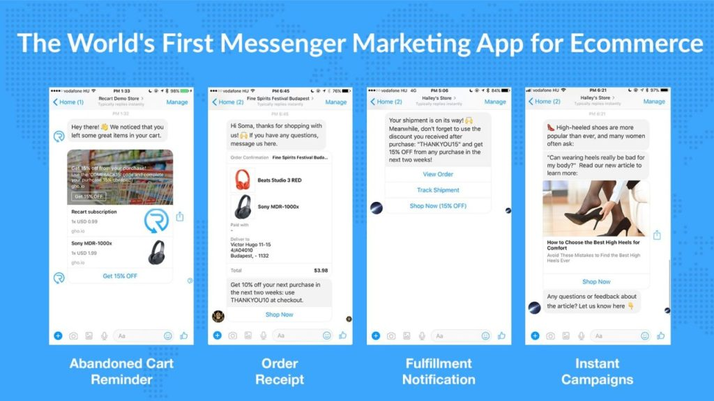 The 8 best Shopify Apps to recover abandoned cart - Recart Messenger Marketing