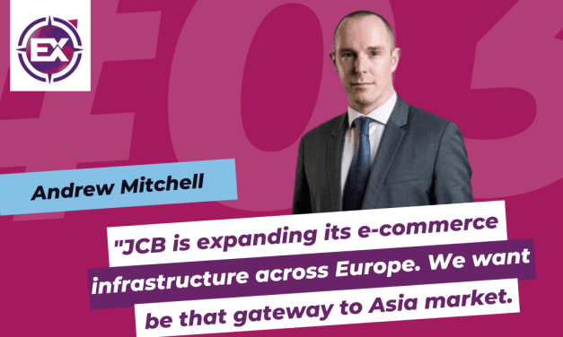 "Andrew Mitchell (JCB International): ""JCB is expanding its e-commerce infrastructure across Europe. We want to be that gateway to Asia market."""