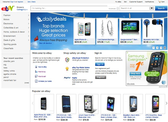 Image result for ebay home page