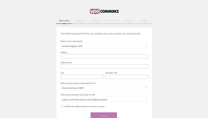 Woocommerce Set Up Guide