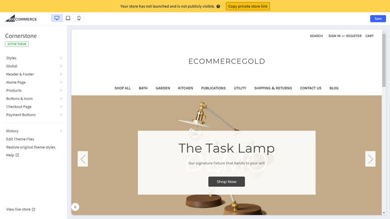 Bigcommerce Customise Theme