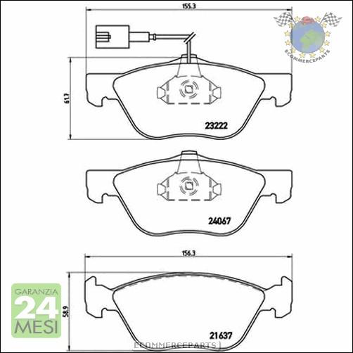 Kit Pastiglie freno Ant e Post Brembo ALFA ROMEO 146 145