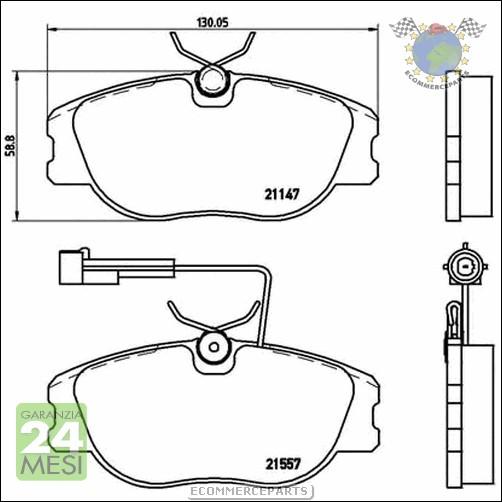 Kit Dischi e Pastiglie freno Ant+Post Brembo ALFA ROMEO