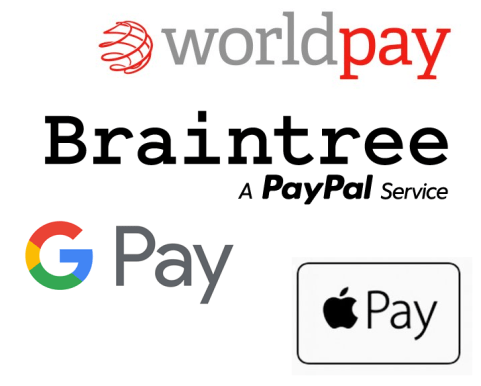 Braintree and other payment logos