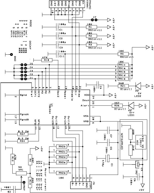 THB6064 MassMind Stepper Motor Driver Kit