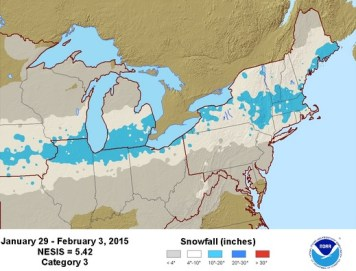 Economic growth and 2015 snowstorm