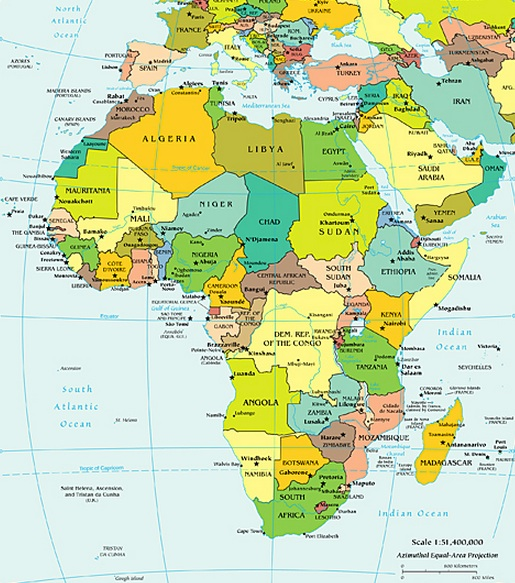 Productivity African map