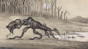 Drawing of a Bunyip