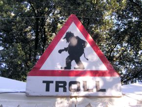 Don' feed the trolls Source: wikimedia