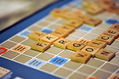 Scrabble board where one of the words is jargon