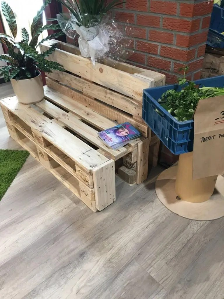 des palettes pour construire un meuble