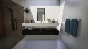 Miroir Chauffant Aux Infrarouges Longs Pour Salle De Bains