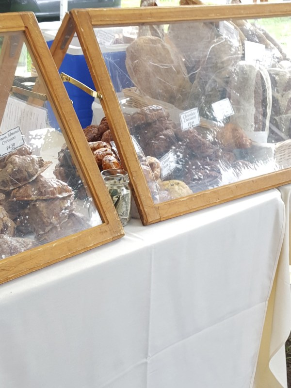 Fresh baked goods on display