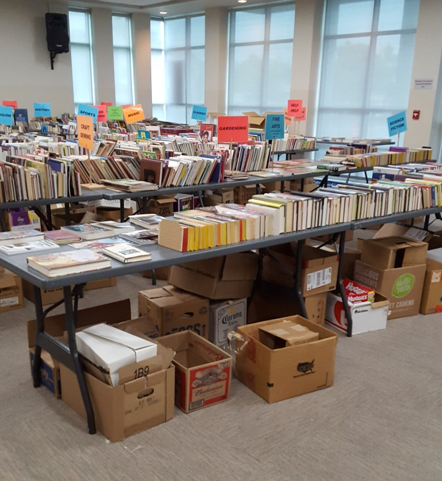 Tables of Books on Sale