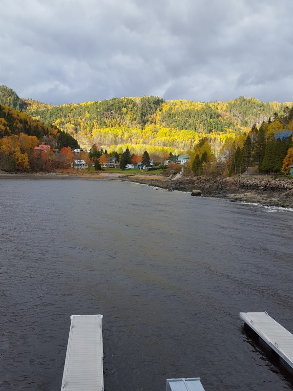 Floating docks on Saguenay fjord