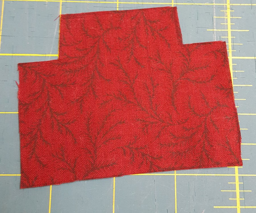 fabric cutout of caboose