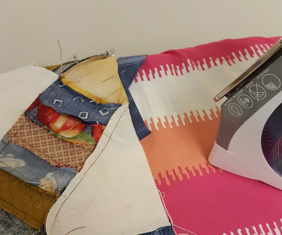 ironing quilt seams