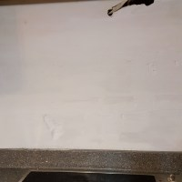 Back splash dry wall with coat of KILZ