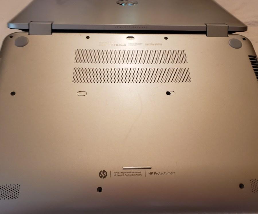 Bottom side of HP Envy x 360