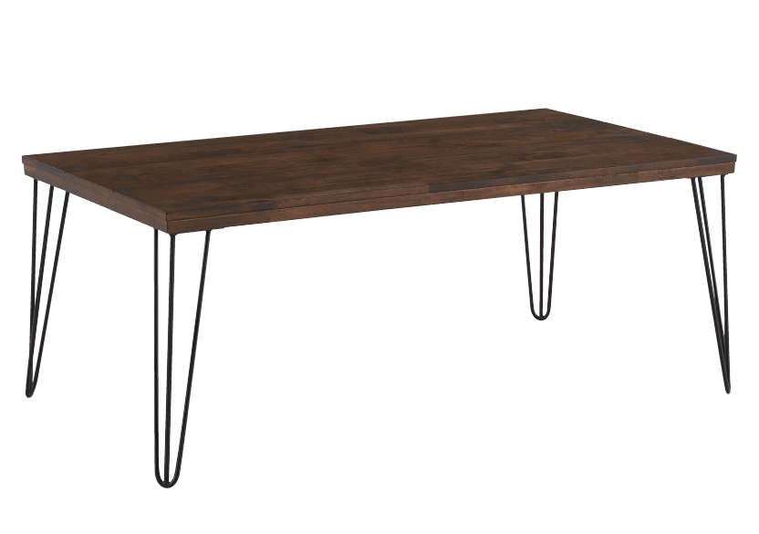 coffee table with metal legs brown and black