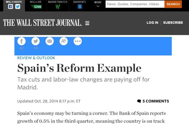 política económica en el WSJ