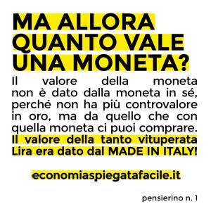 Economia Spiegata Facile su Instagram pensierino n.1