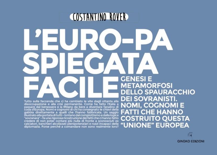 l'europa spiegata facile copertina del libro di Costantino Rover edito da Gingko