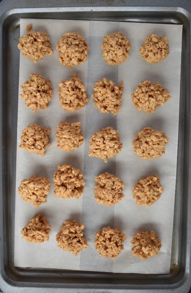 Forming No Bake Peanut Butter Balls
