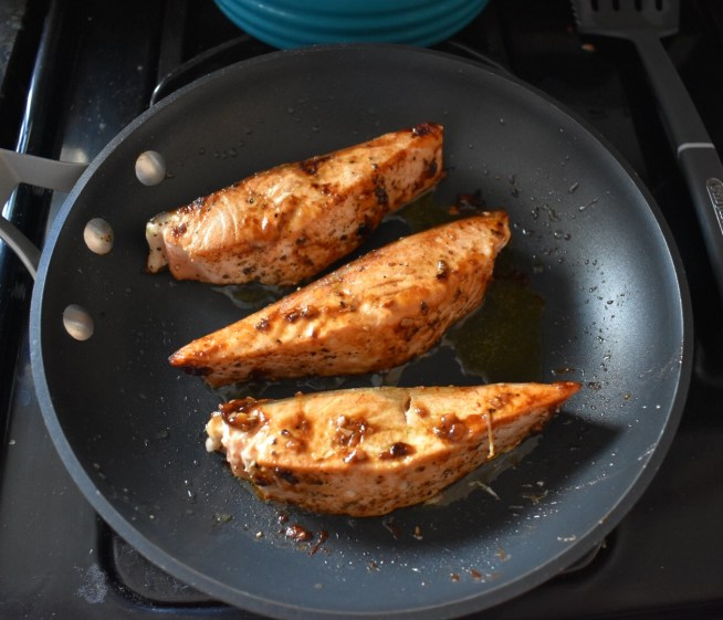 Pan Seared Salmon with Soy Ginger Glaze Flipped