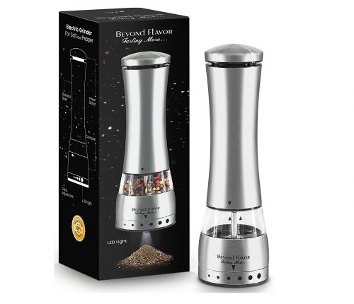 10. Electric Salt & Pepper Grinder By Beyond Flavor
