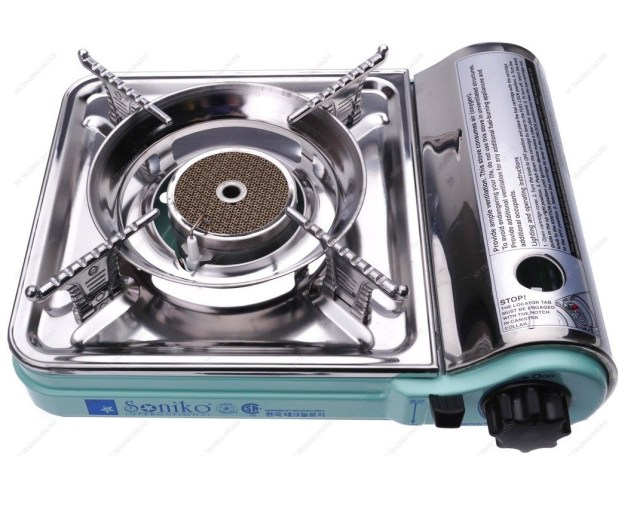 6. Deluxe Portable Butane Stove Free Carry Case