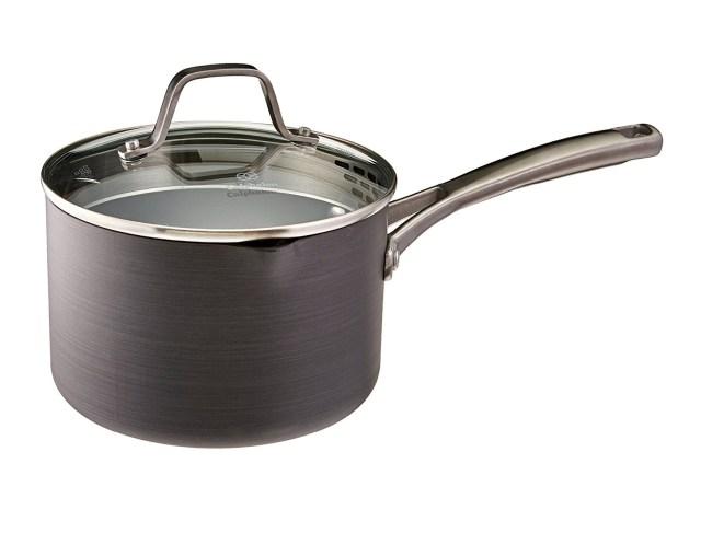 7. Calphalon Classic Nonstick Sauce Pan with Cover, 2.5 Quart, Grey